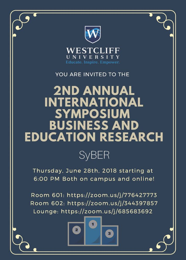 You Are Invited to The 2nd Annual International Symposium Business and Education Research
