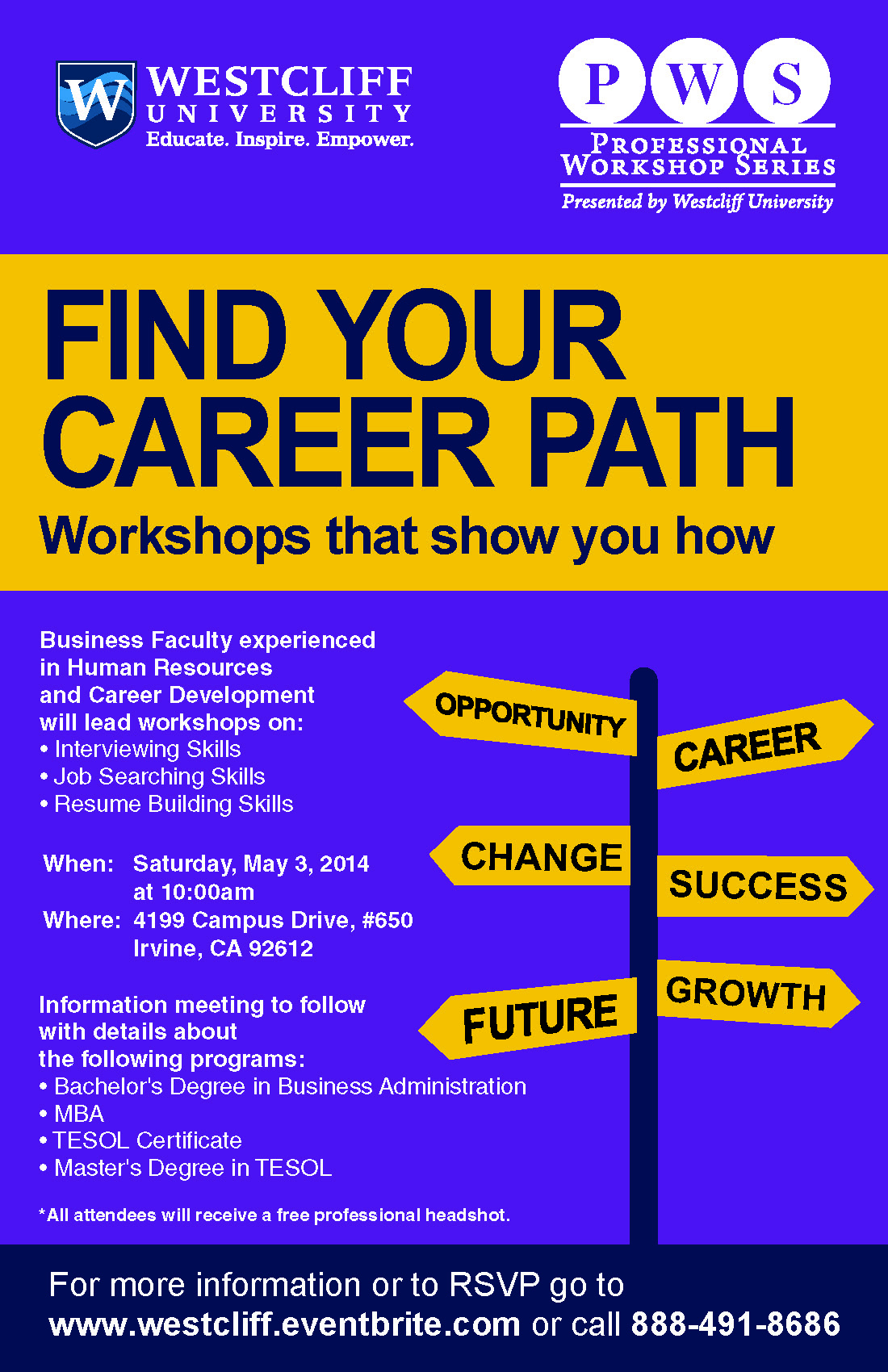 New at Westcliff - Find your Career Path