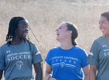 Westcliff students hiking Irvine
