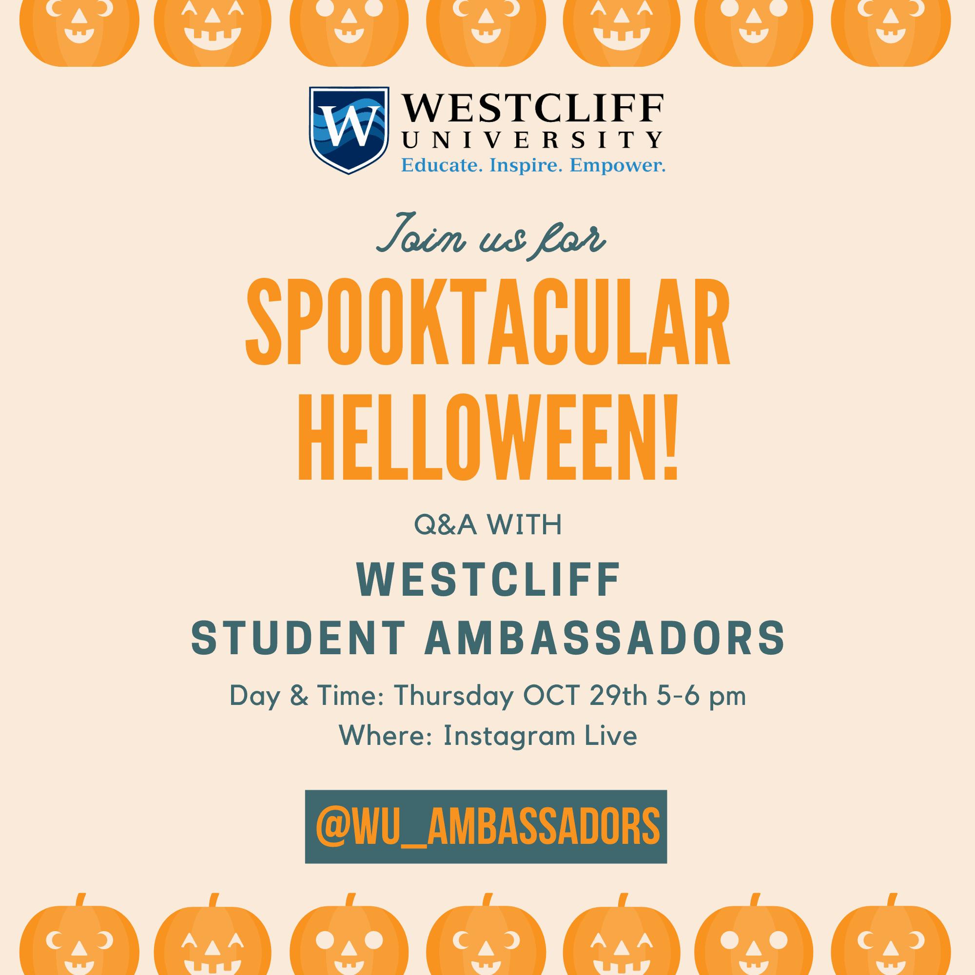 image of student ambassador event for westcliff university