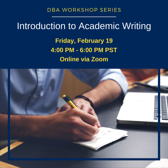 event image graphic for the DBA workshop series