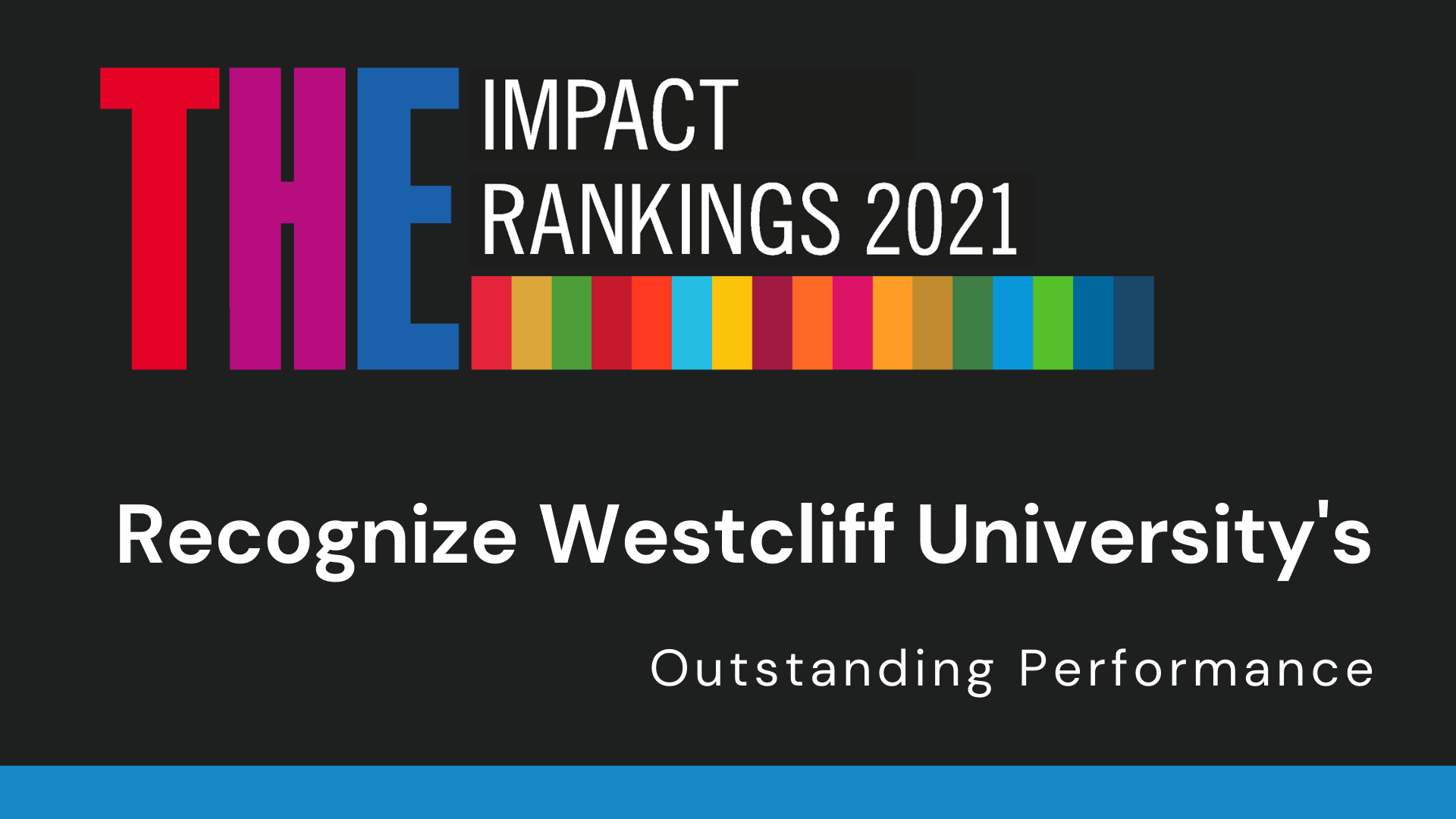 IMPACT RANKINGS 2021 RECOGNIZE WESTCLIFF UNIVERSITY'S OUTSTANDING PERFORMANCE