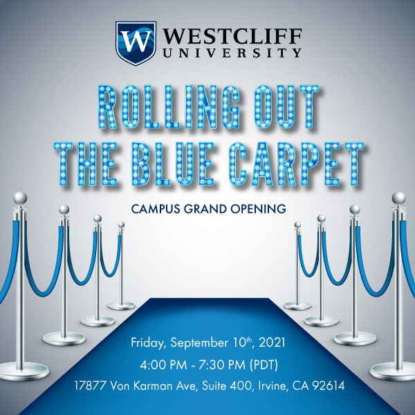 this is an image for the Westcliff University Campus Grand Opening event