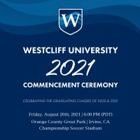 this is an image of the westcliff university 2021 commencement ceremony