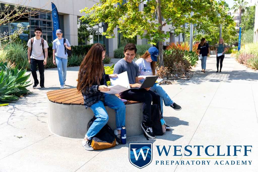 this is an image of the Westcliff Preparatory Academy students on campus